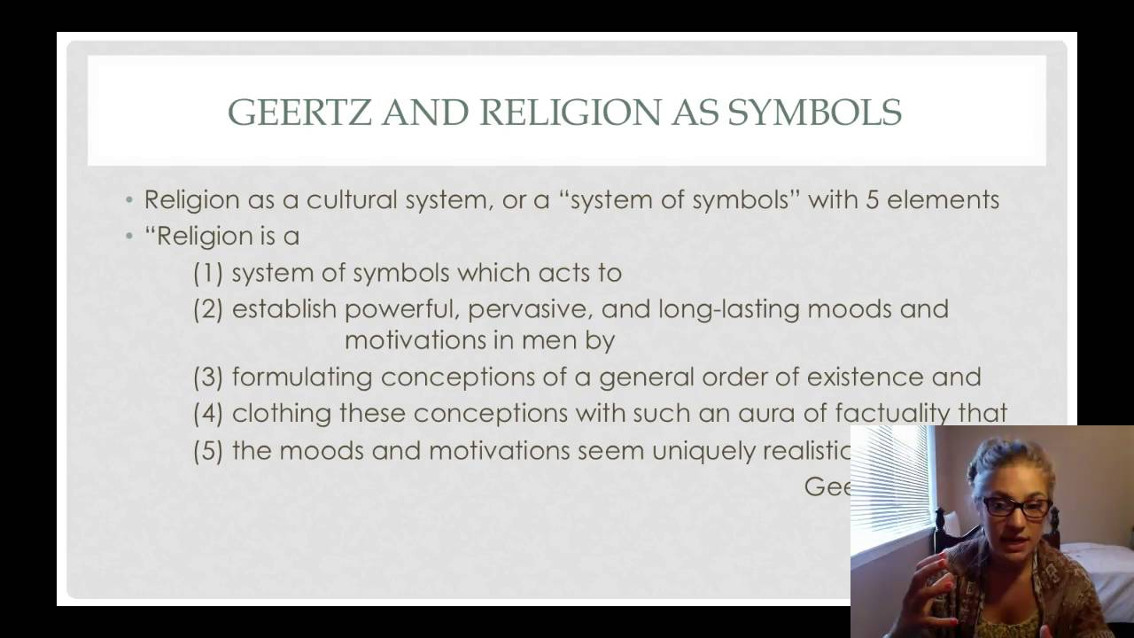 Geertz And Religion As Symbols Youtube