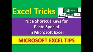 Nice Shortcut Keys for Paste Special in Microsoft Excel || Magic Tips and Tricks [Urdu / Hindi]