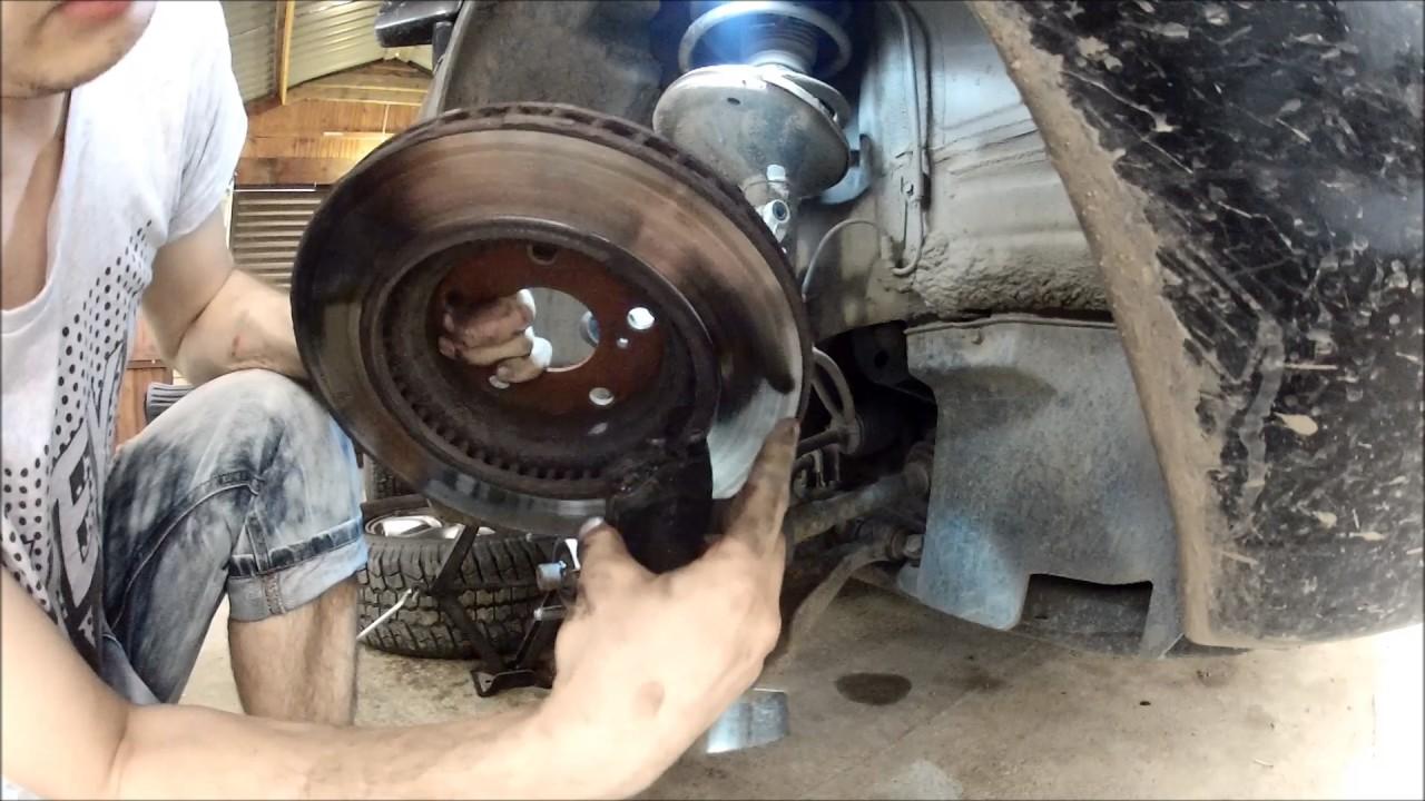 Замена тормозных дисков на Lexus RX300. Последствия установки не оригинальных колодок.