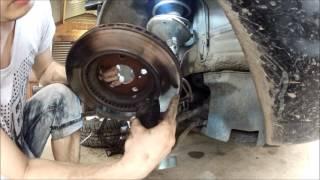 Заміна гальмівних дисків на Lexus RX300. Наслідки встановлення не оригінальних колодок.