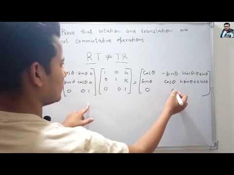 AKTU 2014-15 Question on Rotation & Translation | Digital Image Processing
