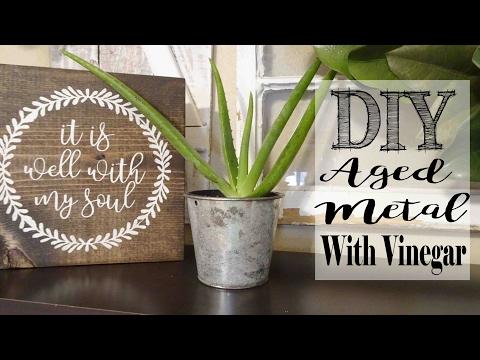 Aging Metal with Vinegar