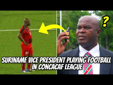 Ronnie Brunswijk, Suriname Vice President Playing Football in Concacaf League vs Olympia