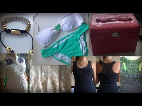 Посылки AliExpress: майка, юбка, худи, купальник, аксессуары и т.д.