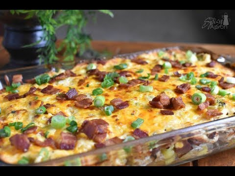 Loaded Baked Potato Casserole With Chicken