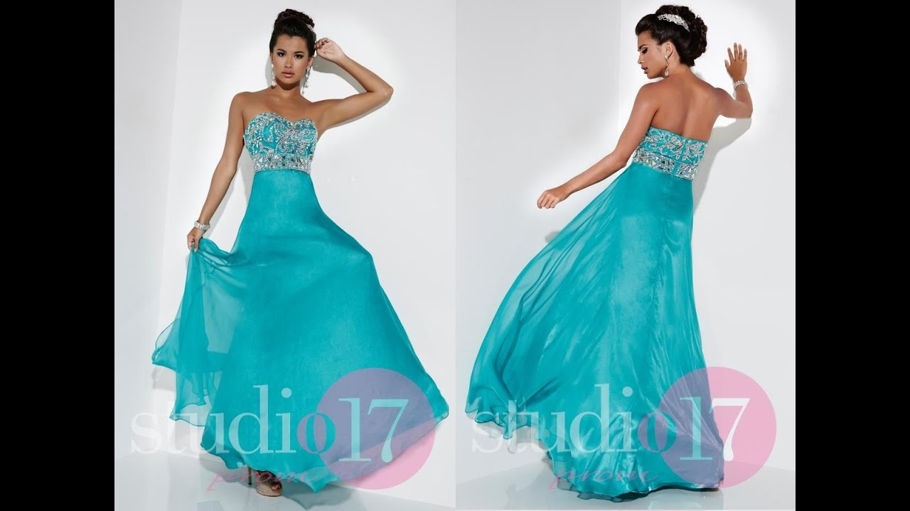 Studio 17 Prom Dress 12517 from Peaches Boutique, Chicago, IL - YouTube