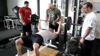 DeFrancosTraining.com - Cushing killin Chain Bench Triceps DEATH!!!
