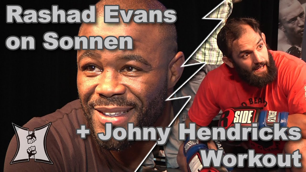 UFC 167's Rashad Evans on Chael + Johny Hendricks' Workout (HD / Complete / Unedited)