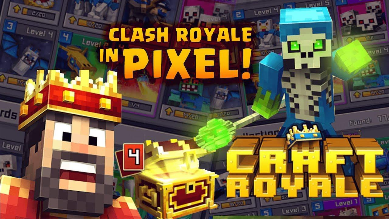 Spiele Test Craft RoyaleClash Of Pixels Deutsch Handy YouTube - Minecraft craft spiele