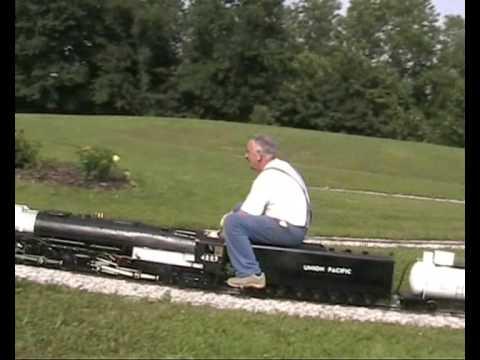 Model Railway Train Track Plans -Preparation For First run of my 5″ gauge Big Boy steam locomotive