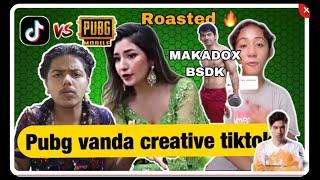 Aanchal Sharma  GOT ROASTED // PUBG VANDA TIKTOK CREATIVE HO !!// TIKTOK VS PUBG // ROASTER UV