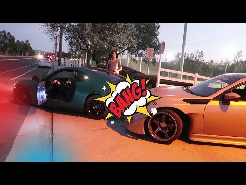 we actually got into a car accident...