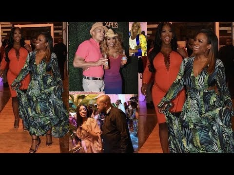 She's Back: Kenya Moore Seen At Cynthia Bailey Event & RHOA Cameras...