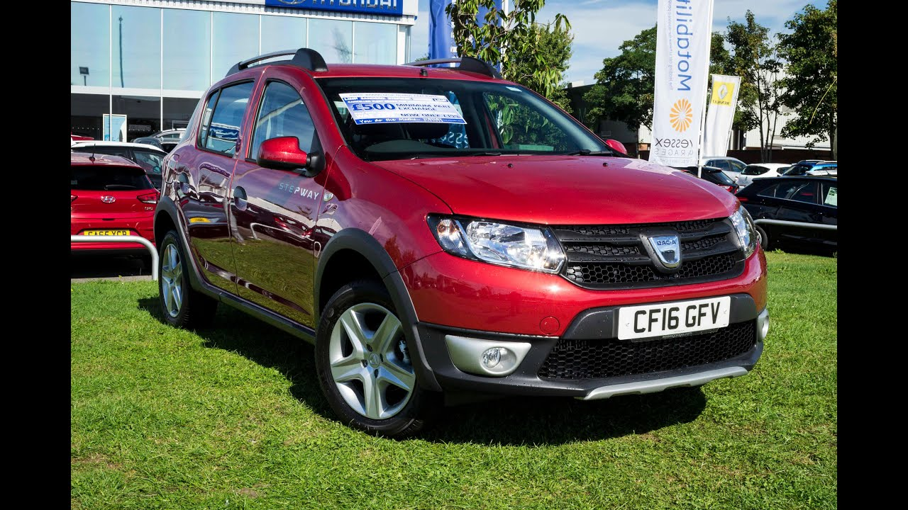 pre reg dacia sandero stepway 1 5 dci ambiance 5dr diesel manual cf16gfv youtube. Black Bedroom Furniture Sets. Home Design Ideas