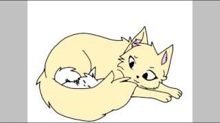 Моя придумоная кошечка и её котята (читать описание )