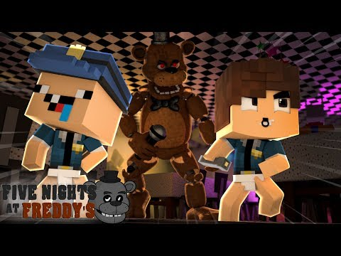 VIRAMOS VIGIAS DA PIZZARIA FIVE NIGHTS AT FREDDY&39;S  - MINECRAFT