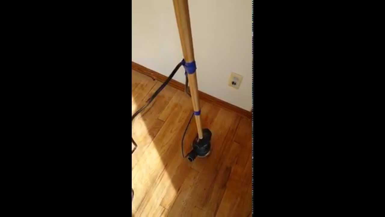 "Sanding A Hardwood Floor With A 5"" Orbital Sander"