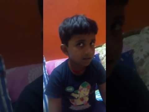 Viraaj first karaoke trial @6 years..
