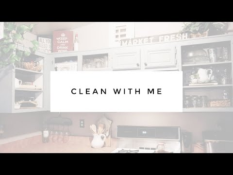 CLEAN with ME- KITCHEN REFRESH// MINI MAKEOVER // DIY Open Concept Cabinets