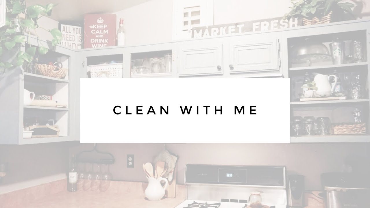 clean with me kitchen refresh mini makeover diy open concept