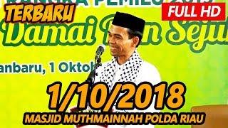 Download Video Ceramah Terbaru Ustadz Abdul Somad Lc, MA - Masjid Muthmainnah Polda Riau MP3 3GP MP4