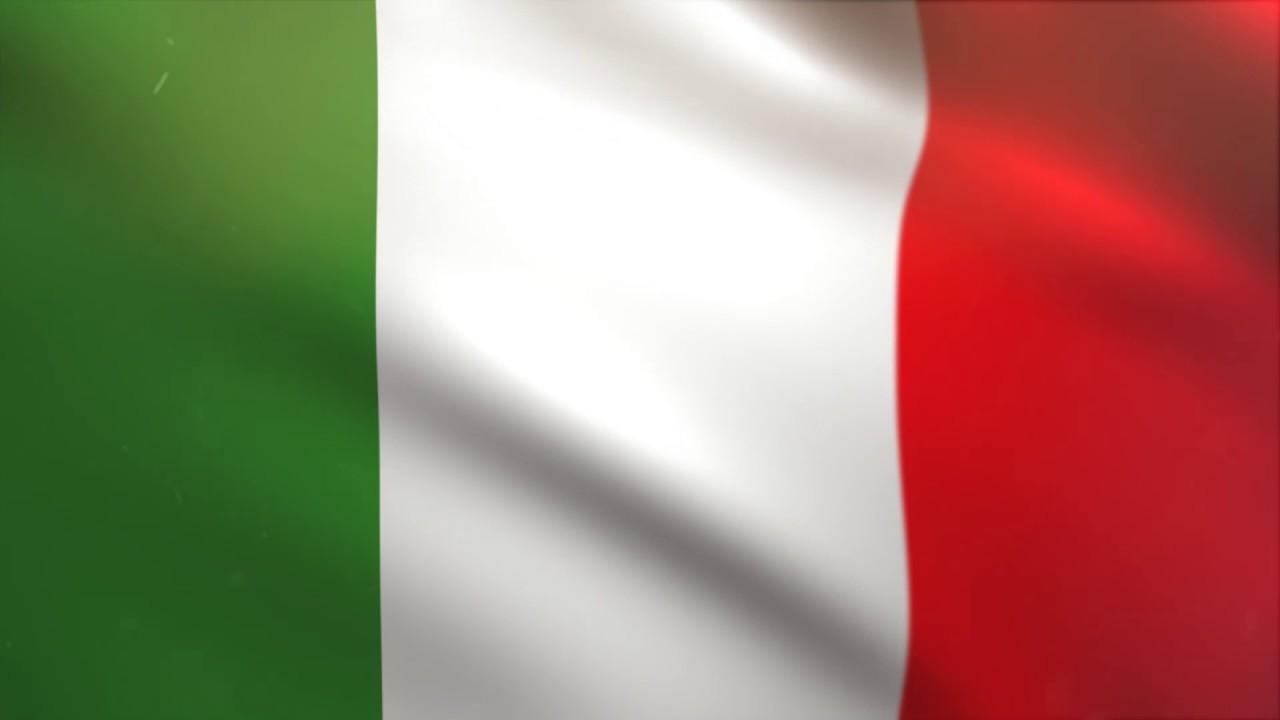 Italian Flag: Italian Flag Waving Animated Using MIR Plug In After