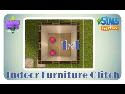 The Sims Freeplay - Indoor Furniture Glitch (1×1)