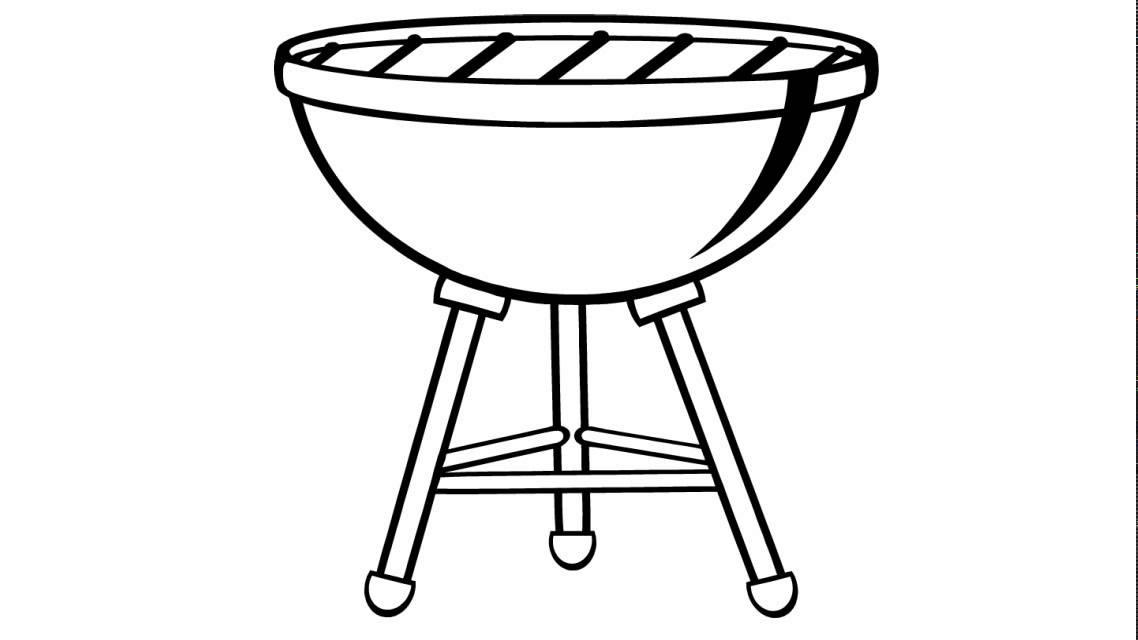 Dessin Barbecue comment dessiner # un barbecue - youtube