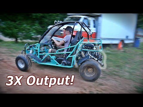 670cc V-Twin on CHINESE Dune Buggy First Ride