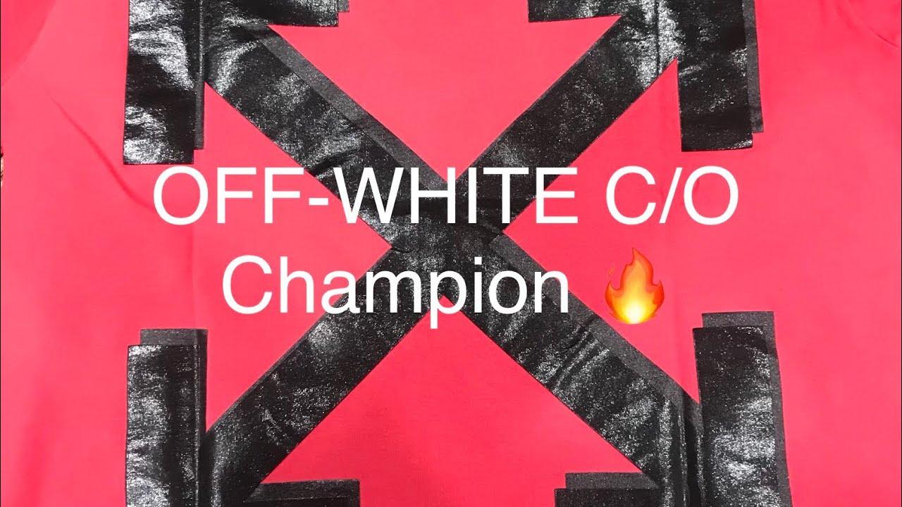 3cfdc9c6 Off White c/o X Champion Collab T-Shirt Unboxing & Review [Virgil Abloh  Designer]