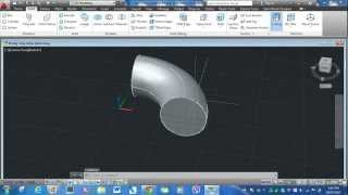 AutoCAD 3D -  90 degrees Long Radius Elbow