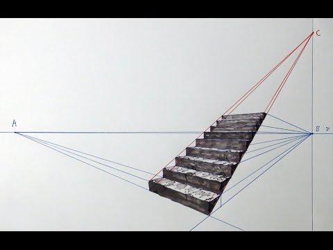 계단 그리기1 Stairs - Drawing 1. 如何画楼梯