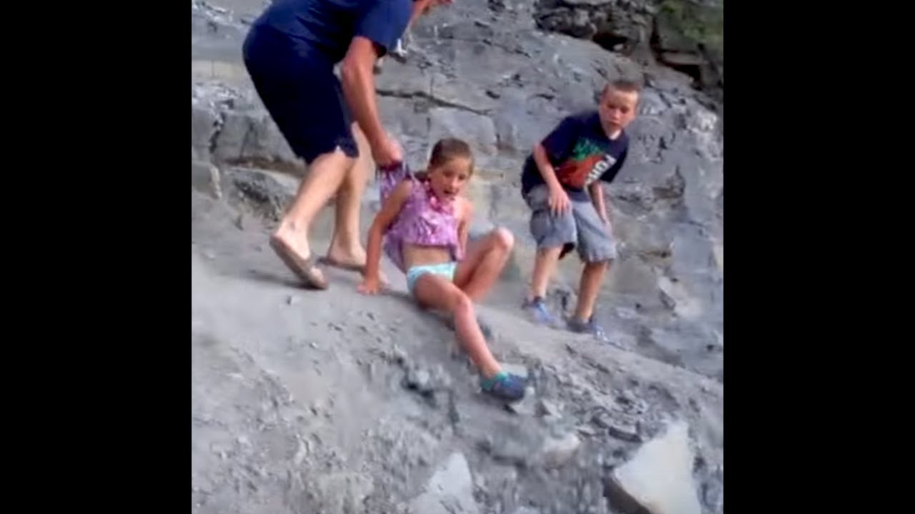 How To Catch Falling Son >> Dad Saves Kid From Falling Off A Cliff Youtube