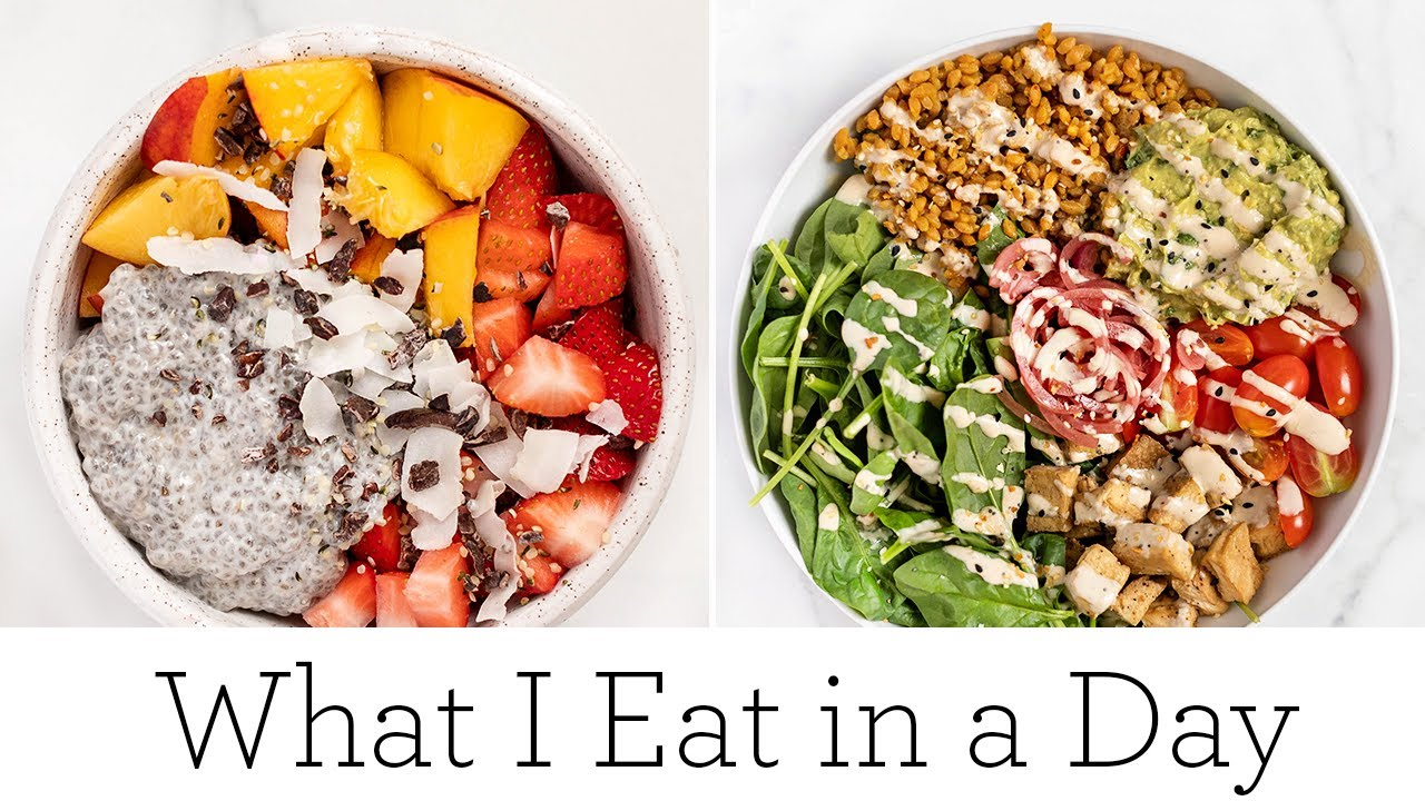 WHAT I EAT IN A DAY (VEGAN) ‣‣ delicious summer recipes!
