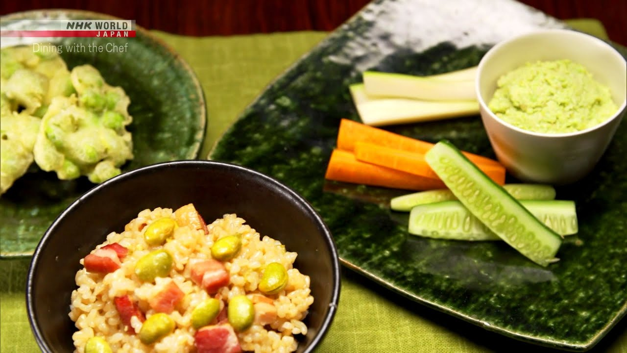 Photo of Chef Rika's Medley of Dishes Featuring Edamame [Japanese Cooking] – Dining with the Chef – video