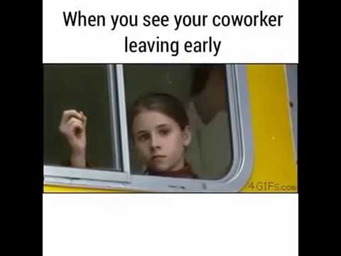 When You See Your Coworker Leaving Early - YouTube Work Party Meme