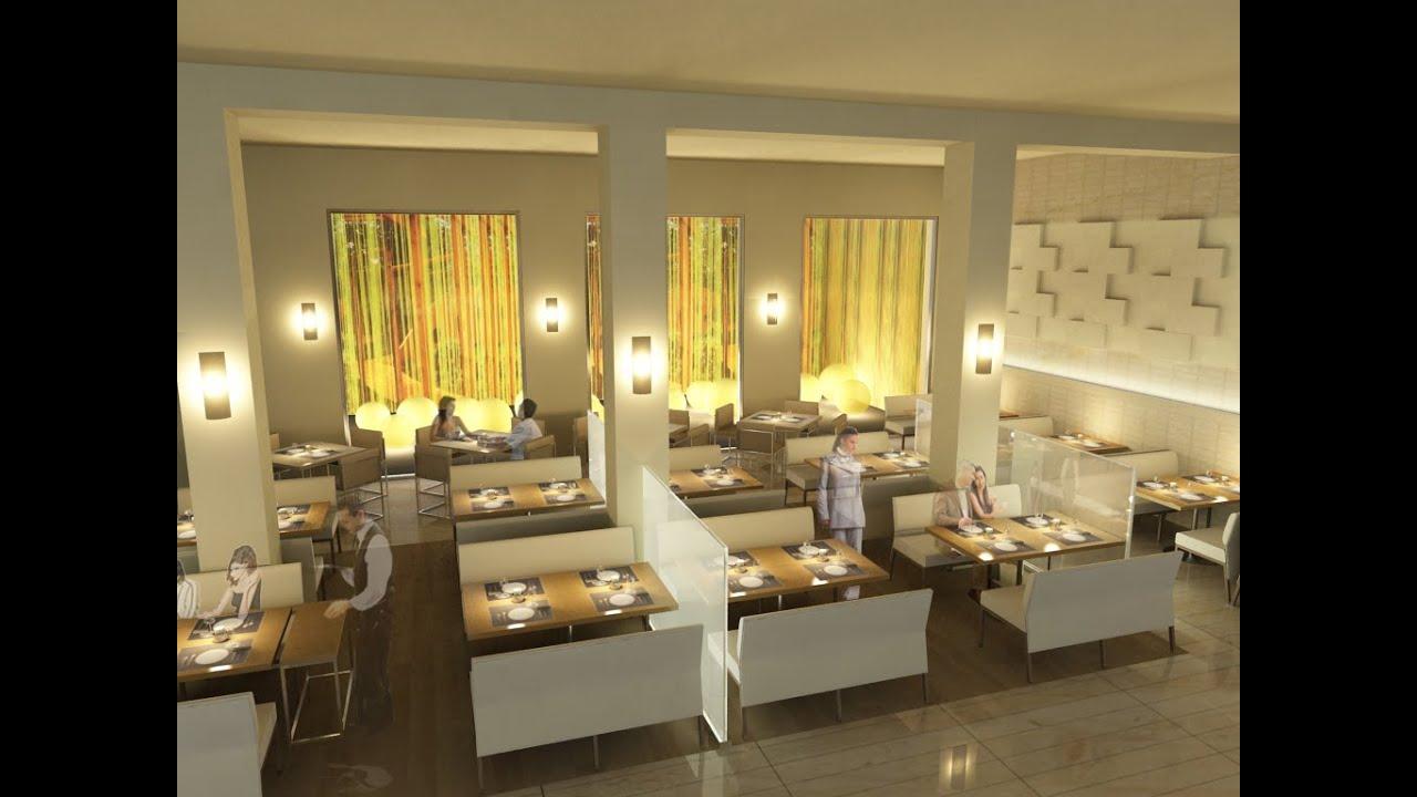 Modern restaurant interior - YouTube