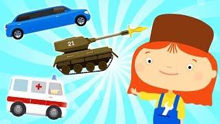 Coche de dibujos animados episodios completos. Animación de compilación. Una familia de dibujos animados.
