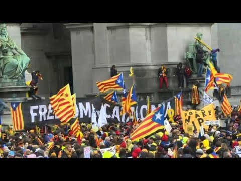 Catalans march in Brussels to
