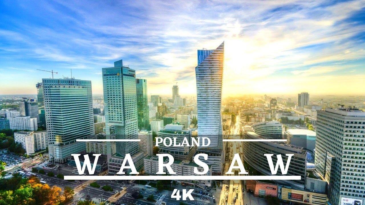 Warsaw Poland 🇵🇱 4K Drone Cinematic Drone Footage