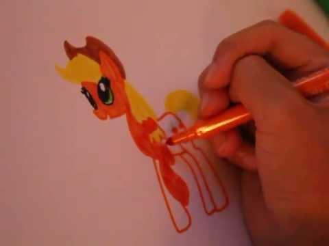 Как Нарисовать Пони Эпплджек♥