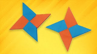 Origami easy - How To Make a Paper Ninja Star (Shuriken)