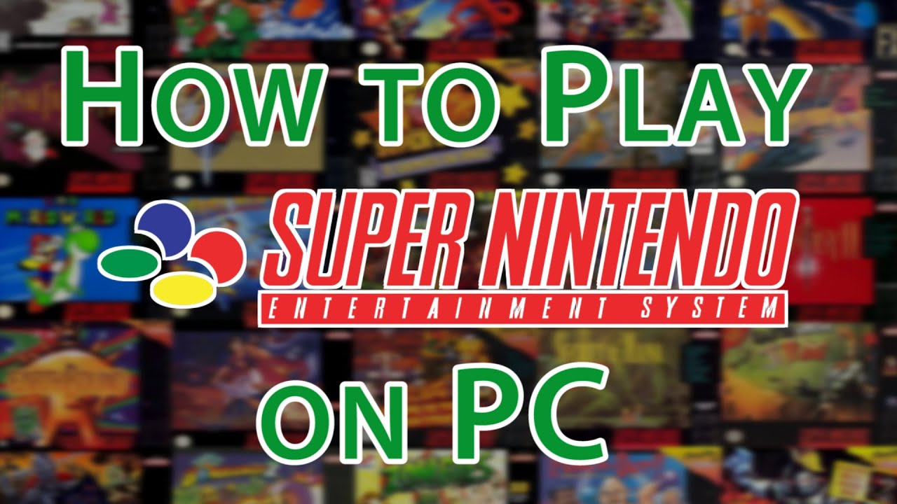 How to Play SNES Games on PC [SNES Emulator ZSNES]