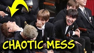 BTS being a chaotic mess for 10 minutes 🤣