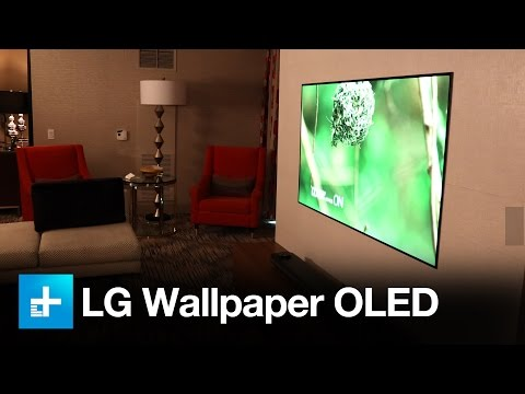 LG W- Series Wallpaper OLED and Atmos Soundbar – Hands on at CES 2017