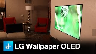 LG W- Series Wallpaper OLED and Atmos Soundbar - Hands on at CES 2017
