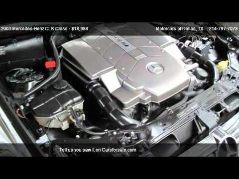 Motorcars Of Dallas >> Mercedes-Benz CLK Class AMG CLK 55 @ Motorcars of Dallas - YouTube