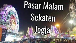 Keramaian Pasar Malam Perayaan Sekaten Jogja 2018