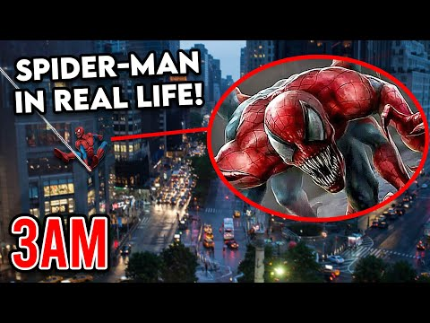 DRONE CATCHES THE REAL SPIDER-MAN FROM THE MOVIE!! (CAUGHT SWINGING AT 3AM)