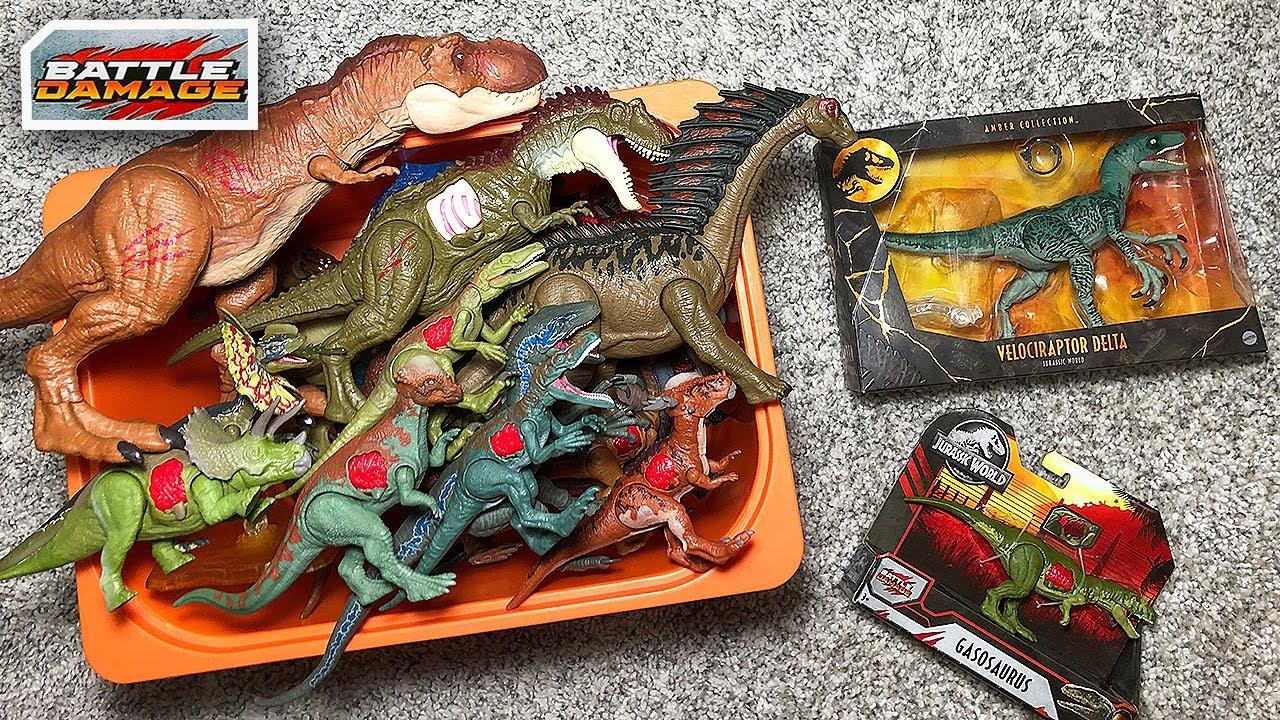 30 Jurassic World Battle Damage & Camp Cretaceous Dinosaurs in a box!